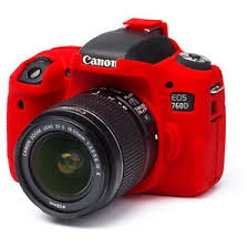 EasyCover Camera Case For Canon 760D / T6s red
